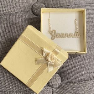 925 sterling silver Joanna Name Chain